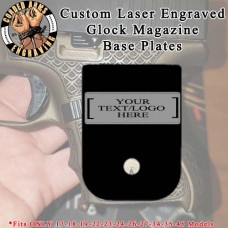 Custom Laser Engraved Aluminum Cerakoted Glock Magazine Base Plates