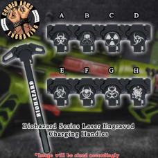 Biohazard Series Laser Engraved Charging Handle