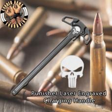 Punisher Laser Engraved Charging Handle
