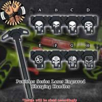 Punisher Series Laser Engraved Charging Handle