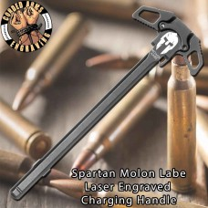 Spartan Molon Labe #1 Engraved Charging Handle