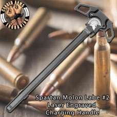 Spartan Molon Labe #2 Engraved Charging Handle