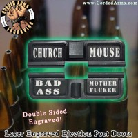 Church Laser Engraved Ejection Port Door