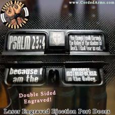 Mean Mother Psalm 23:4  Laser Engraved Ejection Port Door