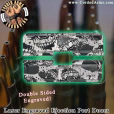 Skull Pattern Laser Engraved Ejection Port Door