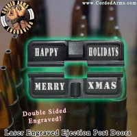 Merry Xmas Laser Engraved Ejection Port Door