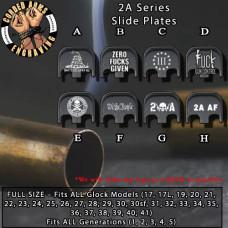 2A Series Custom Laser Engraved Aluminum Glock SlidePlates