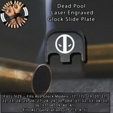 Dead Pool Laser Engraved Glock Slide Plate