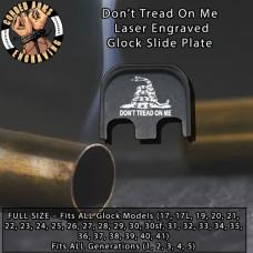 Don't Tread On Me Gadsden Flag Laser Engraved Glock Slide Plate