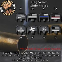 Flag Series Custom Laser Engraved Aluminum Glock SlidePlates