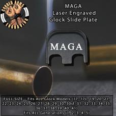 MAGA Laser Engraved Glock Slide Plate