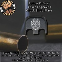 Police Badge Laser Engraved Glock Slide Plate