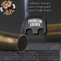 Problem Solver Laser Engraved Glock Slide Plate