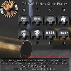 TRUMP Series Custom Laser Engraved Aluminum Glock SlidePlates