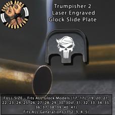 Trumpisher # 2 Laser Engraved Glock Slide Plate