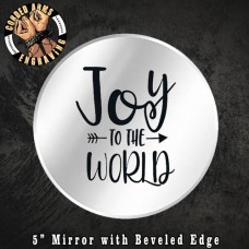 Custom Laser Engraved Mirror (Joy To The World) Christmas Holiday Jesus Candle Holder Wall Decor Party Favor Gift