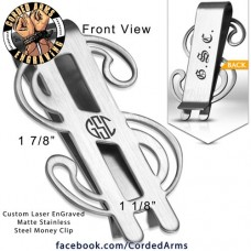 Dollar Bill Custom Laser Engraved Money Clip