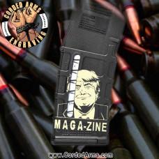 Trump MAGAzine Engraved Windowed Pmag
