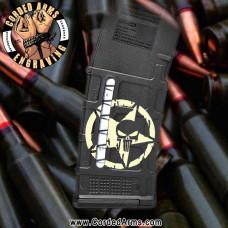 Punisher Star Engraved Windowed Pmag
