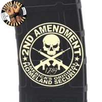 2nd Amendment Skull Laser Engraved Custom Pmag