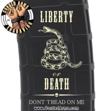 Liberty Or Death Snake Engraved Custom Pmag
