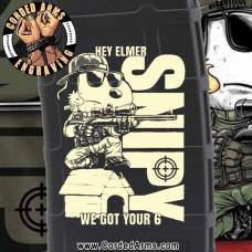 Snipy Got Your 6 Laser Pmag Laser Engraved Custom Pmag