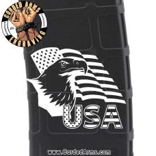USA Eagle Engraved Custom Pmag