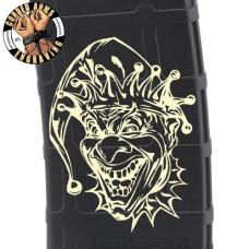 Angry Clown Laser Engraved Custom Pmag