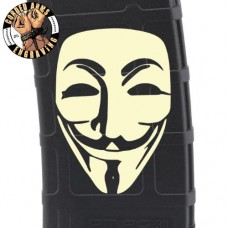 Anonymous Guy Fawkes Laser Engraved Custom Pmag