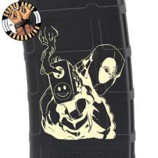 Deadpool Gun Laser Pmag Laser Engraved Custom Pmag