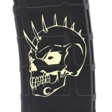 Evil Spiked Skull Laser Engraved Custom Pmag