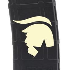 Trump Silhouette Laser Engraved Custom Pmag