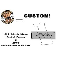 """Pick-A-Pattern"" & ""Logo Insert"" Custom Glock Stippling"