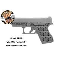 """Celtic Thatch"" Custom Glock Stippling G42/43"