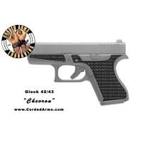 """Chevron"" Custom Glock Stippling G42/43"