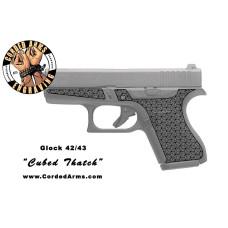 """""""Cubed Thatch"""" Custom Glock Stippling G42/43"""