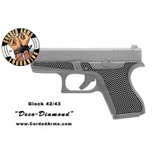 """Deco Diamond"" Custom Glock Stippling G42/43"