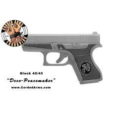 """Deco Peacemaker"" Custom Glock Stippling G42/43"