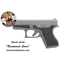 """Diamond Love"" Custom Glock Stippling G42/43"