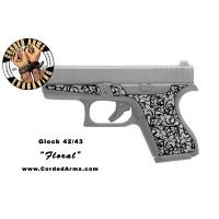 """Floral"" Custom Glock Stippling G42/43"