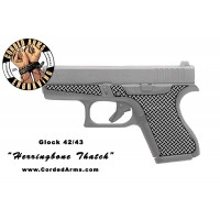 """""""Herring Bone"""" Custom Glock Stippling G42/43"""