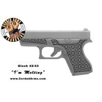"""I'm Melting"" Custom Glock Stippling G42/43"