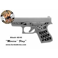 """""""Merica' Flag"""" Custom Glock Stippling G42/43"""