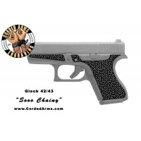 """Soo Chainy"" Custom Glock Stippling G42/43"