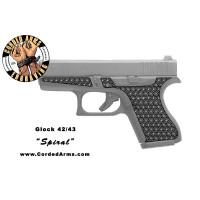 """Spiral"" Custom Glock Stippling G42/43"