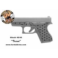 """""""Triad"""" Custom Glock Stippling G42/43"""