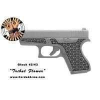 """""""Tribal Flower"""" Custom Glock Stippling G42/43"""