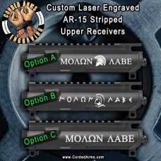 Molon Labe Series Laser Engraved Stripped Upper Receiver