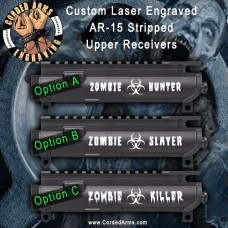 Zombie Series Laser Engraved Stripped Upper Receiver
