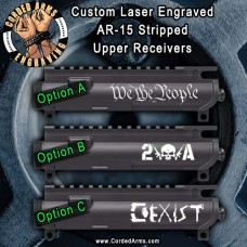 2A Series Laser Engraved Stripped Upper Receiver